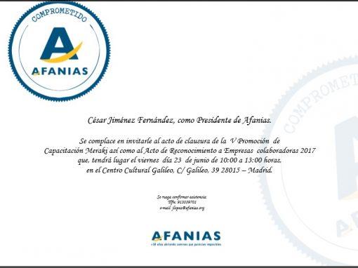 Fundación Cisen galardonada por AFANIAS 2º consecutivo