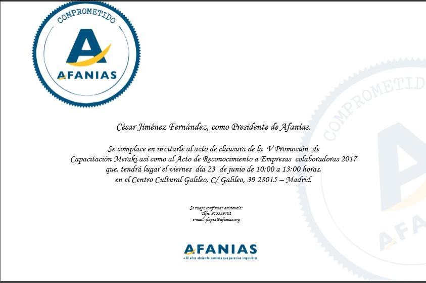 Fundación CISEN galardonada por AFANIAS 2º año consecutivo