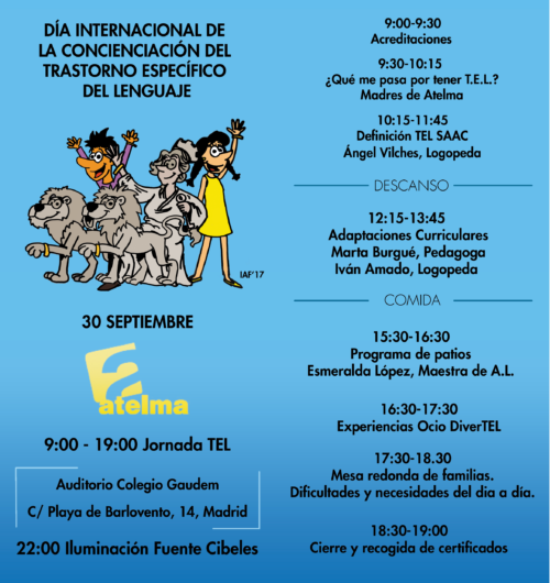 Día Internacional de concienciación del Trastorno Específico del Lenguaje: 30 de septiembre