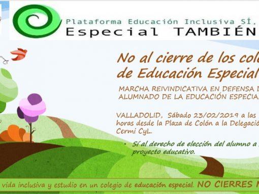 Marcha reivindicativa Valladolid 23 de febrero